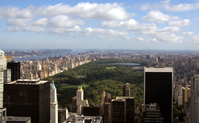 Overview of Central Park, New York