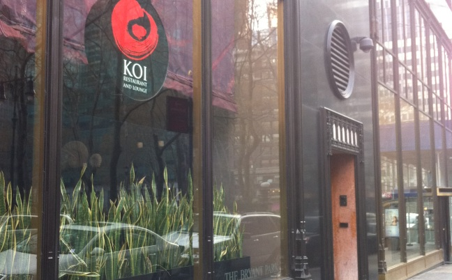 Koi Restaurant in Manhattan
