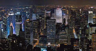 midtown manhattan by night