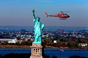 new york helicopter - statue of liberty