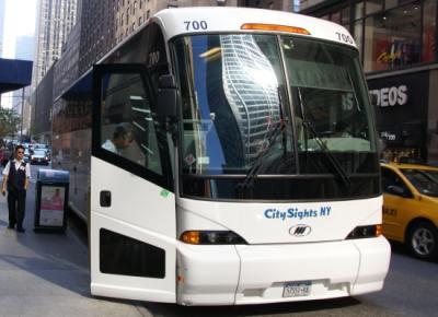 NY Movie tour bus